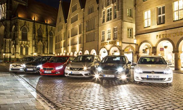 Ford Focus Kia cee'd Nissan Pulsar Peugeot 308 Renault Megane VW Golf Kompaktklasse Diesel Vergleichstest