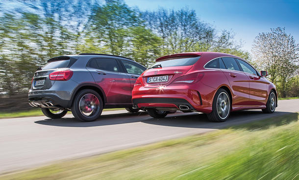 Mercedes CLA 250 4matic Shooting Brake Mercedes GLA 250 4matic Kombi SUV Konzept-Vergleich Test