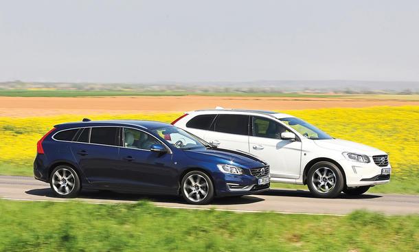 Volvo V60 XC60 D4 SUV Kombi Konzept-Vergleich Diesel Frontantrieb Mittelklasse