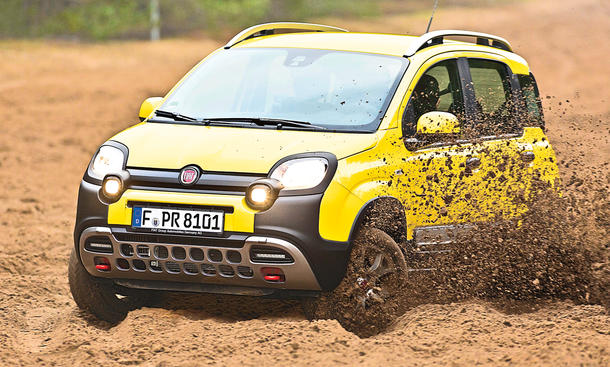 fiat panda 4x4 cross vs dacia duster g nstige suv im vergleich bild 3. Black Bedroom Furniture Sets. Home Design Ideas