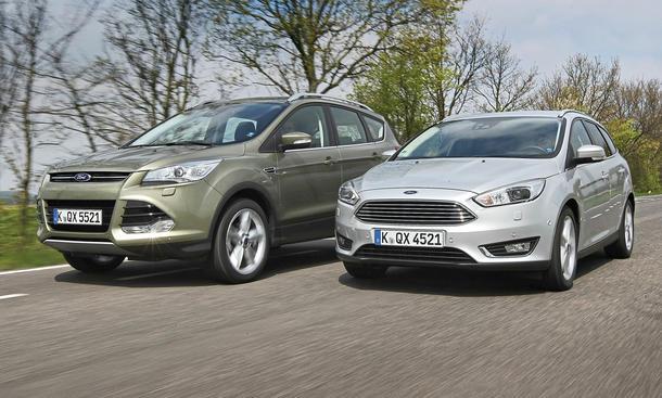 Ford Focus Turnier Ford Kuga Konzept-Vergleich SUV Kombi Kompaktklasse