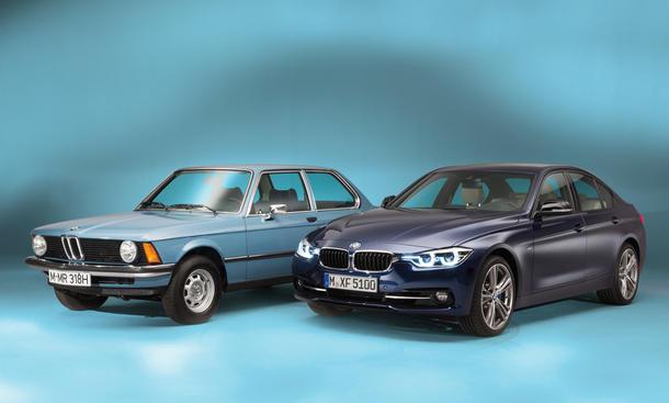 BMW 3er F30 Facelift Vorstellung Vergleich 3er E21 Mittelklasse Limousine Jubiläum
