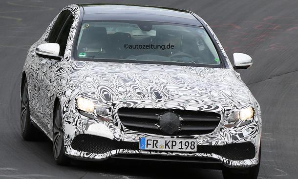 erlkönig mercedes e-klasse 2016 w213 oberklasse limousine t-modell