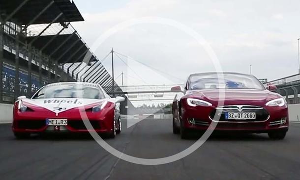 Ferrari 458 Speciale vs. Tesla Model S P85d