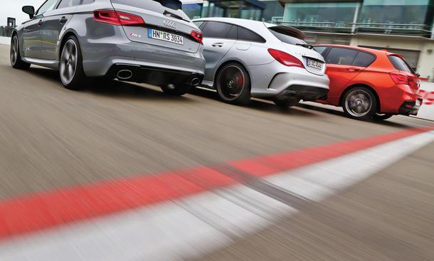 Audi RS 3 BMW M135i Mercedes CLA 45 AMG Kompaktklasse Sportler Vergleichstest