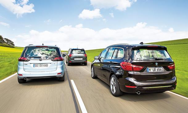 BMW 2er Gran Tourer Citroen Grand C4 Picasso Opel Zafira Tourer Vergleichstest