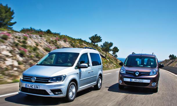 VW Caddy 2015 Facelift Renault Kangoo Kastenwagen Van Familienauto Vergleich