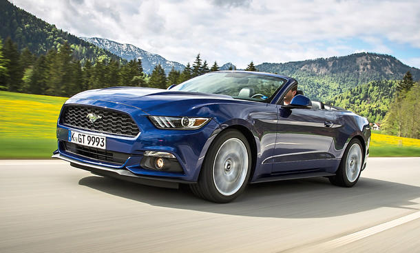 Ford Mustang 2.3 EcoBoost Cabriolet Test Fahrbericht Vierzylinder