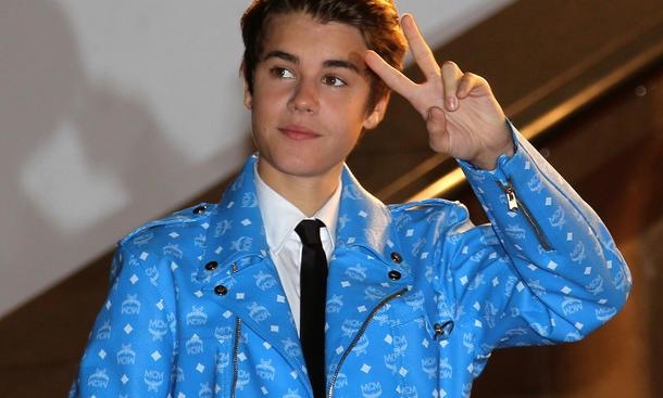 Justin Bieber Saenger 2012