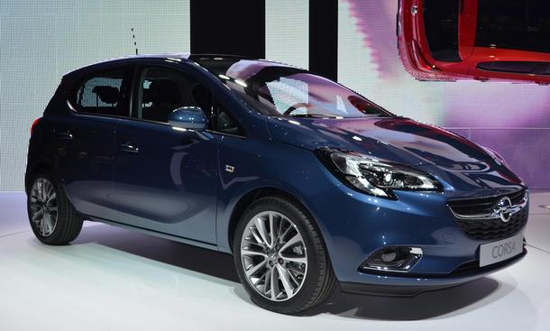 Opel Corsa E 2015 Live-Bilder Pariser Autosalon 2014 Kleinwagen Dreitürer Fünftürer fünfte Generation