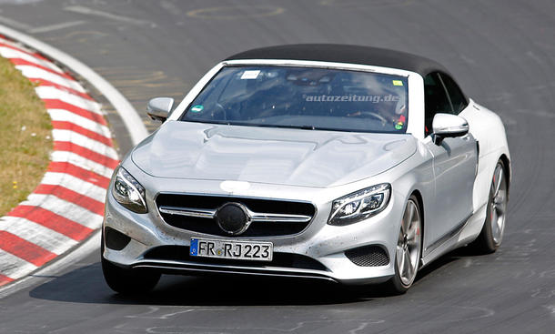 Mercedes S-Klasse Cabrio 2015 IAA Erlkönig ungetarnt Luxus-Cabriolet