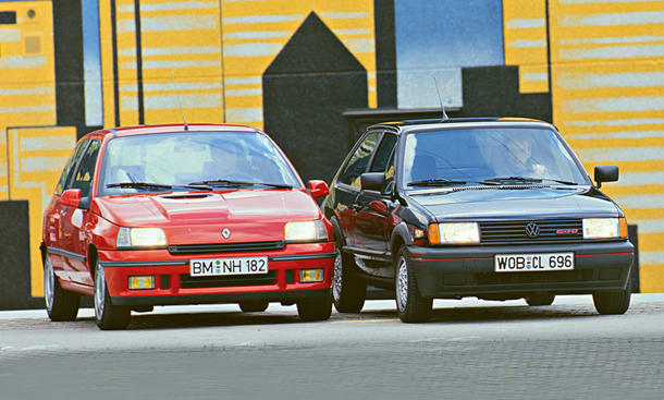 Renault Clio 16V VW Polo G40 Coupe Vergleich
