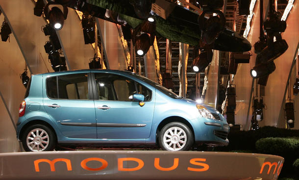 renault modus minivan gebrauchtwagen seitenansicht
