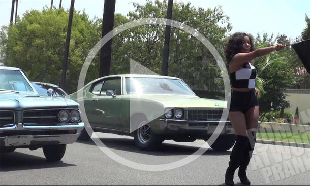Strassenrennen-Prank im Video