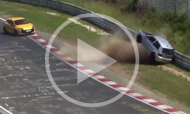 VW Golf R32: Crash-Video