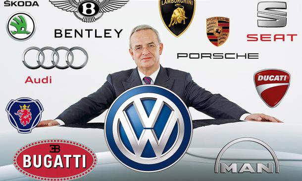 VW Konzern Volkswagen Marken-Familien
