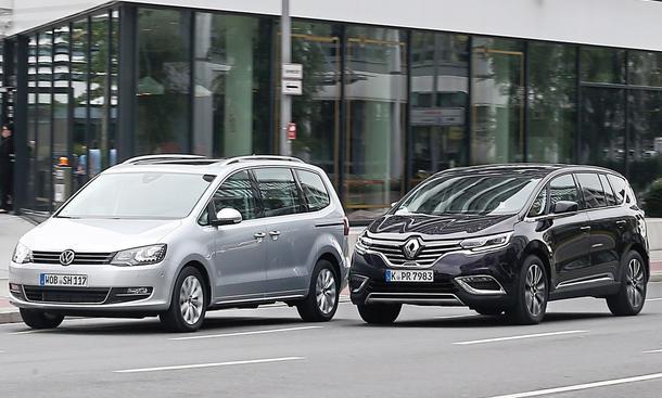 Renault Espace VW Sharan Vans Vergleichstest