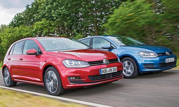 VW Golf 1.0 TSI BlueMotion 1.4 TSI Verbrauchsvergleich