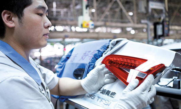 Audi China Absatz 2015 Krise Verkaufszahlen