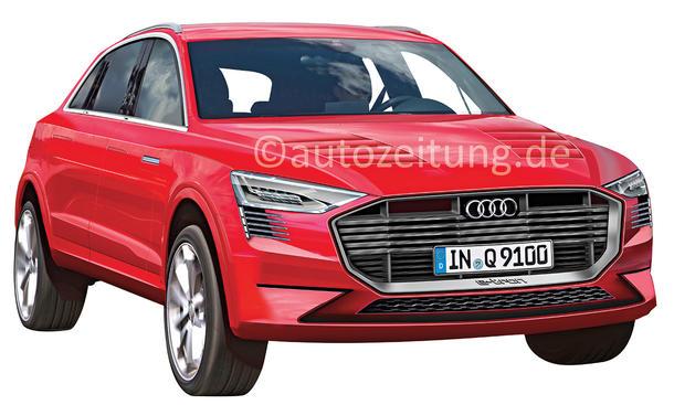 Audi e-SUV IAA 2015 Q6 Q9 e-tron Elektro-Auto Reichweite Batterie-Technik