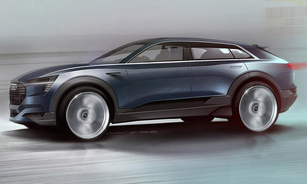 Audi e-tron quattro IAA 2015 Elektro-SUV 500 Kilometer Reichweite