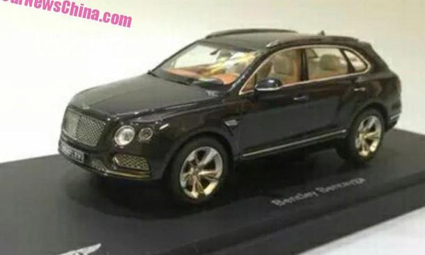Bentley Bentayga 2015 IAA Luxus-SUV Modellauto-Leak