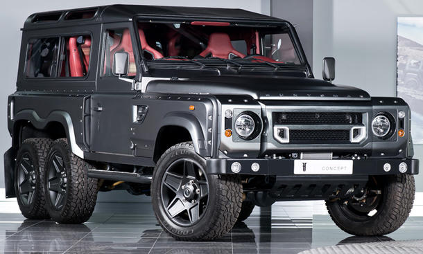 kahn design flying huntsman 6x6 land rover defender tuning