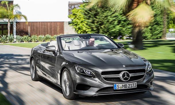 Mercedes S-Klasse Cabrio 2015 IAA Luxus-Cabriolet