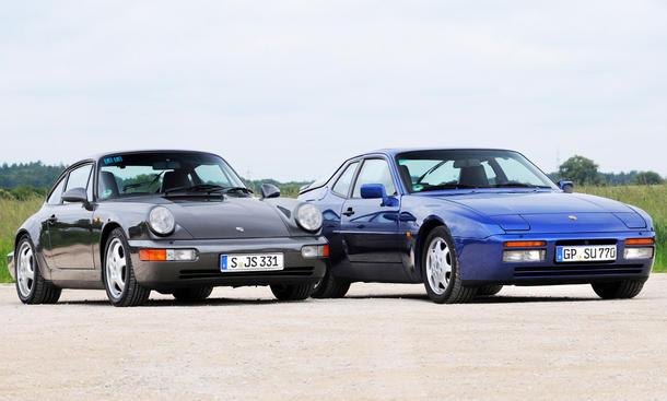 porsche 964 carrera 2 944 turbo vergleichstest sportwagen classic cars front