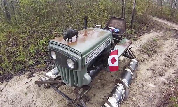 schlamm-raupen-traktor spinnen schaufelbagger video kanada verrückte fahrzeuge