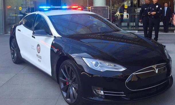 tesla model s bmw i3 hybrid elektroauto polizeiauto police los angeles lapd