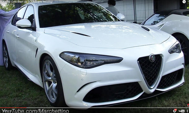 alfa romeo giulia qv sound video ungetarnt
