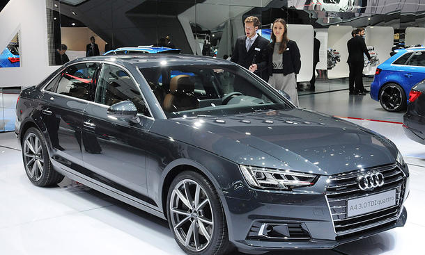 Audi A4 IAA 2015 Livebilder Premium Mittelklasse-Limousine Neuheit
