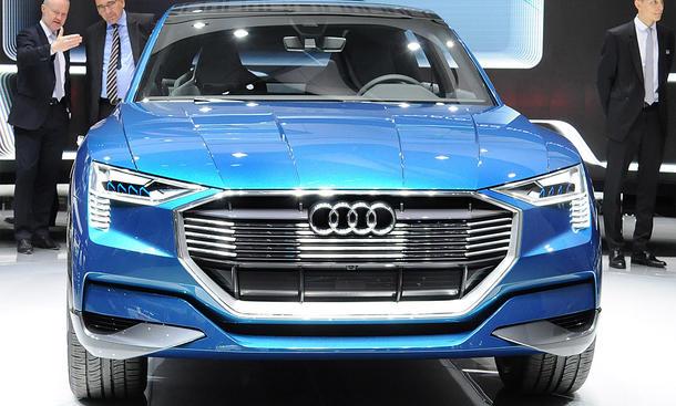 Audi e-tron quattro 2015 IAA Livebilder Frankfurt Elektro-SUV Q6 Q9