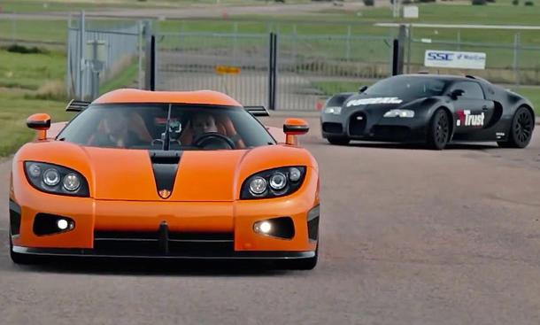 bugatti veyron koenigsegg ccxr video supersportwagen duell vergleich