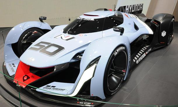 Hyundai N 2025 Vision Gran Turismo IAA 2015 Supersportler Studie Livebilder