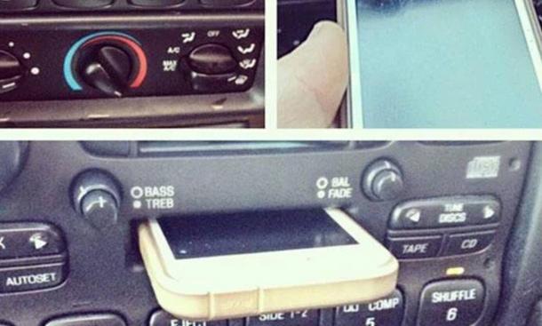 iphone ins autoradio gesteckt kurios autozeitungde