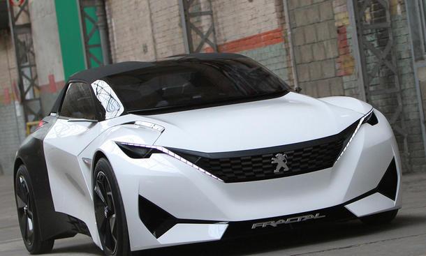 Peugeot Fractal 2015 IAA 3D-Drucker Kleinwagen