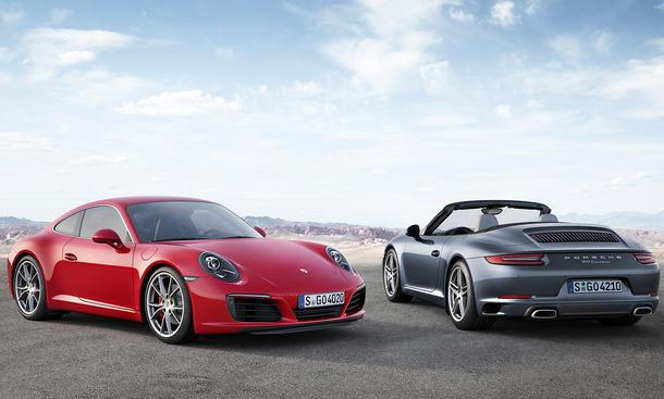 porsche 911 2015 iaa facelift carrera cabrio turbo motoren vorstellung neuheit