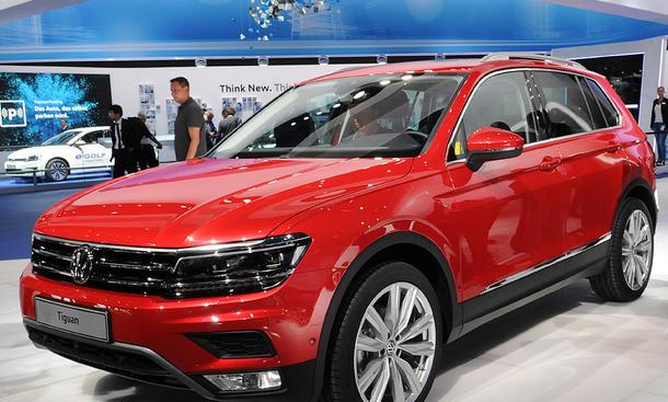 2016 VW Tiguan IAA 2015 Kompakt-SUV MQB Livebilder