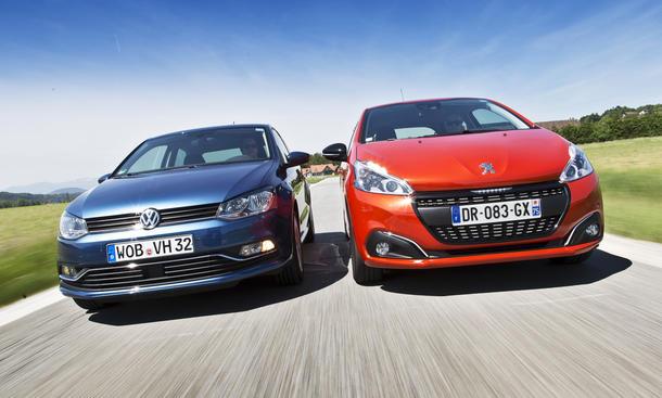 Peugeot 208 VW Polo Kleinwagen Zweitürer Benziner Vergleich