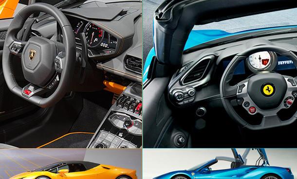 Lamborghini Huracán Spyder gegen 488 Spider Vergleich