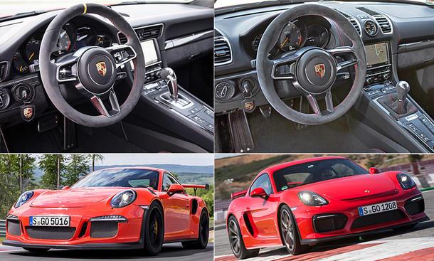 Porsche Cayman GT4 Vergleich 911 GT3 RS