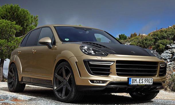 topcar porsche cayenne turbo gold