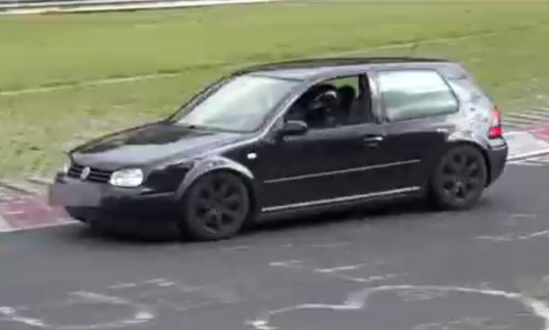 vw golf 4 video nürburgring crash