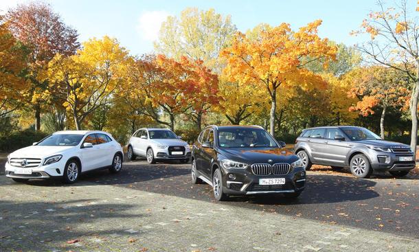 Audi Q3 BMW X1 Mercedes GLA Ranger Rover Evoque