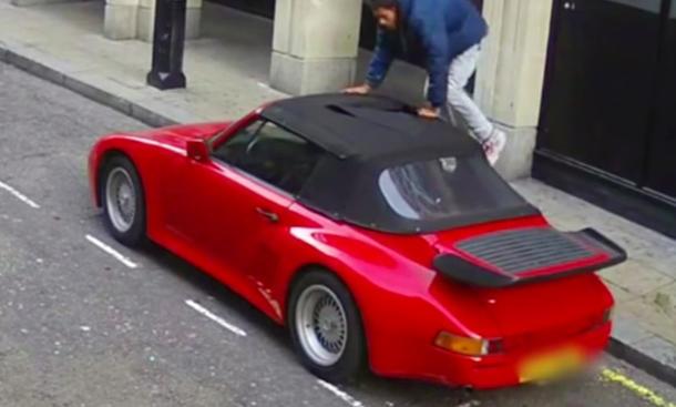 Porsche 911 Diebstahl Kamera