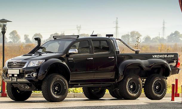 Toyota Hilux 6x6 Tuning Von Vromos Autozeitung De