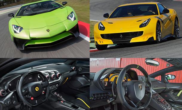 Ferrari F12tdf Lamborghini Aventador SV