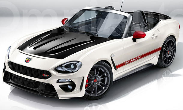 abarth 124 spider illustration. Black Bedroom Furniture Sets. Home Design Ideas